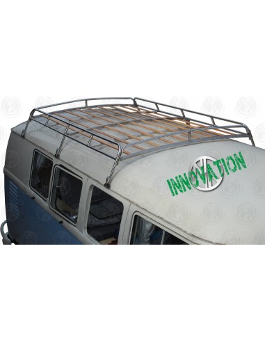 1.8m S/S Roof Rack for T2 Splits with Solid Beech Slats