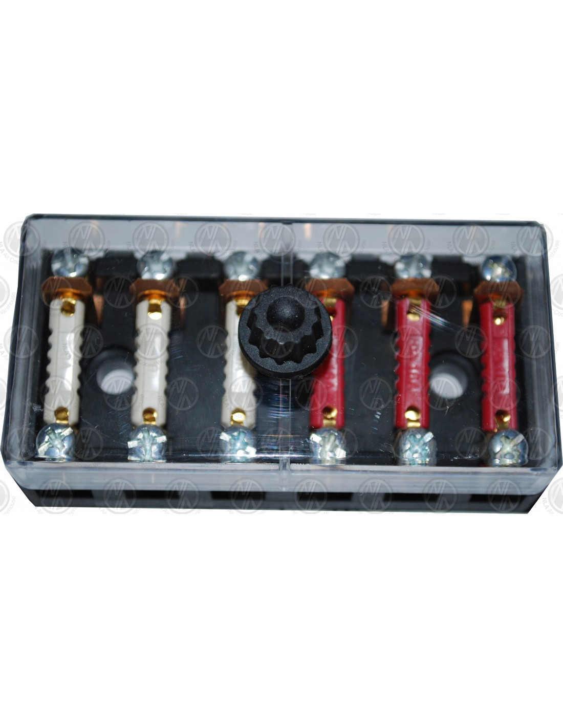 6 way auxiliary fuse box with fuses nla vw parts. Black Bedroom Furniture Sets. Home Design Ideas