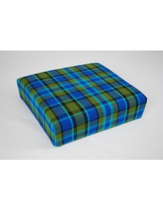 Blue plaid stool cover for Westfalia late bay buddy seat