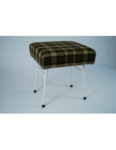 Beige plaid Westfalia late bay buddy seat same as original