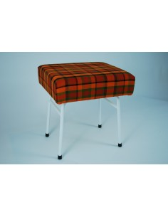 Orange plaid Westfalia late bay buddy seat same as original