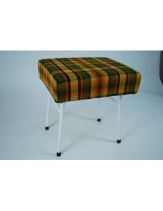 Yellow Plaid Westfalia late bay buddy seat same as original
