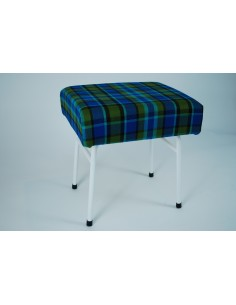 Blue plaid Westfalia late bay buddy seat same as original