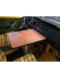 T2 Late Bay Westfalia Dashboard Table Wood with base and hooking brackets