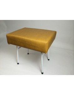 Westfalia Mustard vinyl steel frame buddy seat same as original for T2 splits and Early Bay