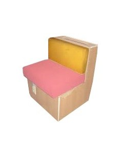 Westfalia Mustard vinyl cover for rear facing wooden buddy seat backrest in early bay 1968-1970 the same as original