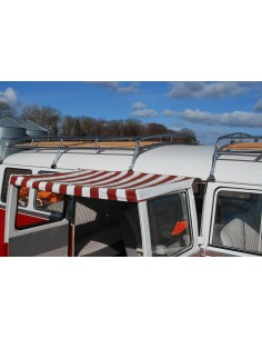 T2 Splits Screen Sun Canopy for Cargo Doors in Red