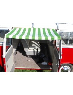 T2 Splits Screen Sun Canopy for Cargo Doors in Green