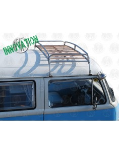 0.6m Silver powder coated steel Roof Rack for VW T2 Bay with Solid Beech Slats