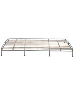 Top quality Low Profile 3.1m silver powder coated steel Roof Rack for T2 Splits with Solid Beech Slats