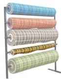 Westfalia yellow plaid seat cloth as original per metre