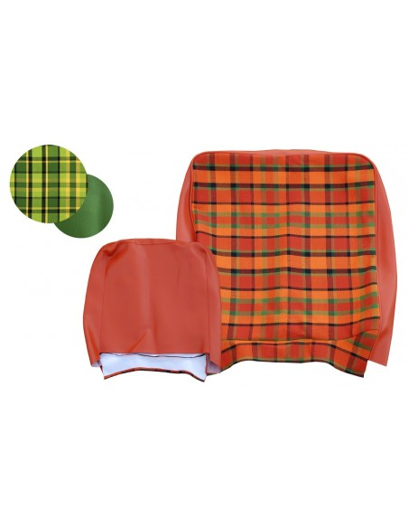 Early Bay Front Seat Full Back Cover in Green Plaid