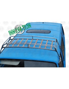 VW T25 silver powder coated steel roof rack with solid beech slats 0.6m
