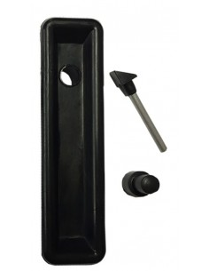 VW T2 Black Westfalia Handle with black push button 1968-1979