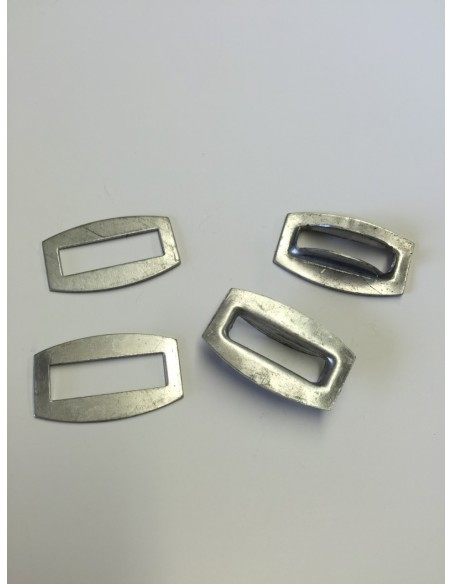 Zinc coated steel eye plate/lock loop for VW T2 pick up canvas
