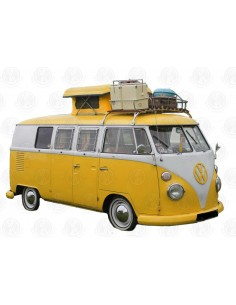 Westfalia turret top pop up roof Canvas in yellow for VW T2 Splits