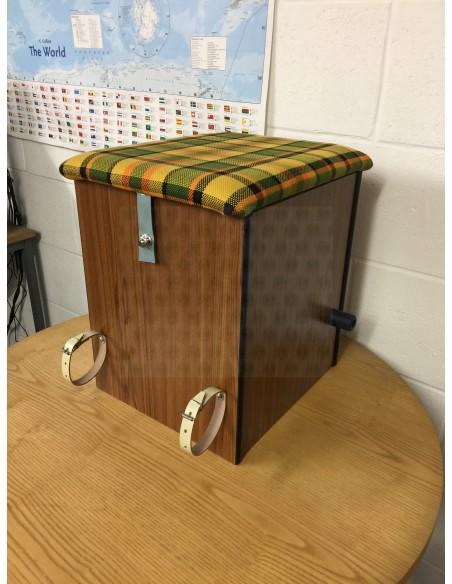 Westfalia Helsinki Wood Buddy Seat / Storage Box in Yellow