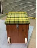 Westfalia Helsinki Wood Buddy Seat / Storage Box in Green
