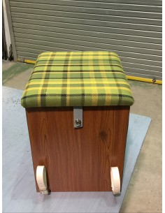 Westfalia Helsinki Wood Buddy Seat / Storage Box in Green