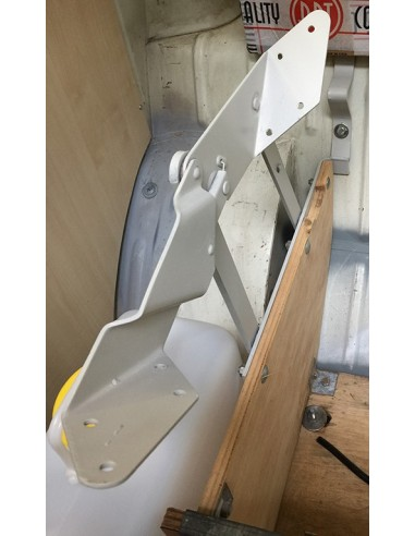 T2 Early Bay Westfalia Rock and Roll Hinges Pair in grey