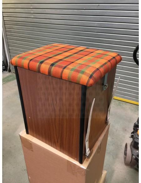 Westfalia Helsinki Wood Buddy Seat / Storage Box in Orange