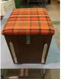 Westfalia Helsinki Wood Buddy Seat / Storage Box in Orange