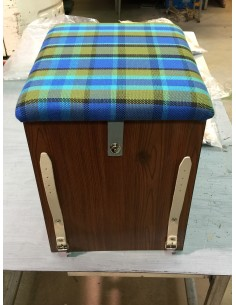 Westfalia Helsinki Wood Buddy Seat / Storage Box in Blue