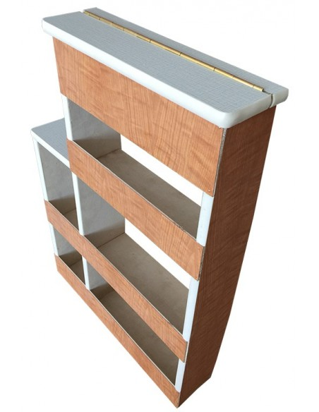 S042 spice rack with white and grey lines lid