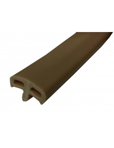 VW Rubber Edge Trim in Brown - Thick T Profile as Original (per metre)