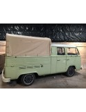 Heavy Duty waterproof cotton Canvas fits original Steel Hoops for loading bed on VW T2 Bay Crew /Double cab 68-79