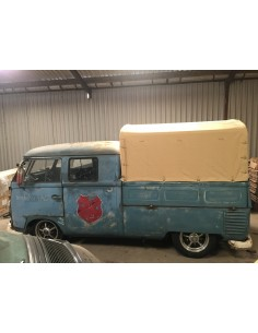 Heavy Duty waterproof cotton Canvas fits original Steel Hoops for loading bed on VW T2 Splits Crew /Double cab 50-67