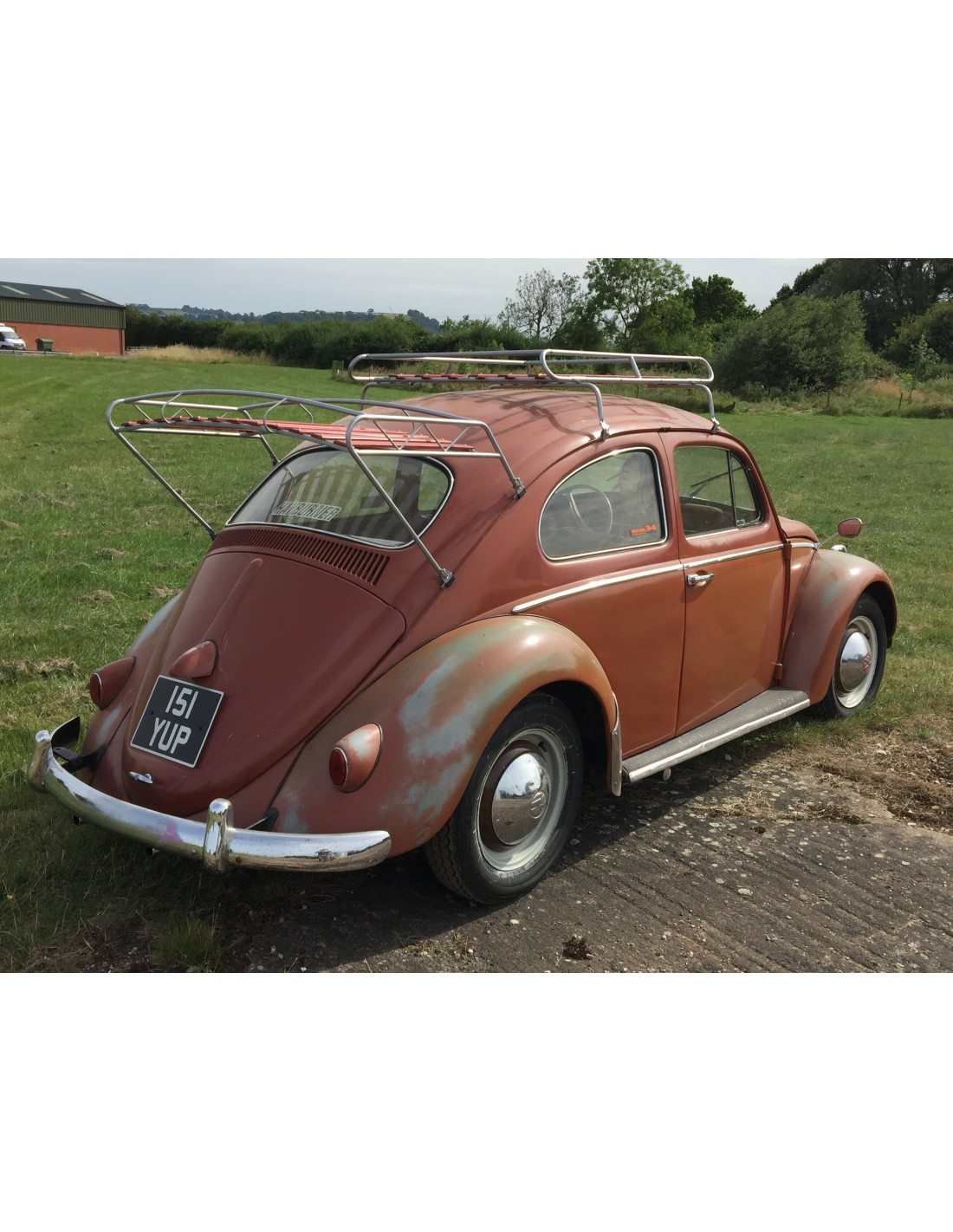 Classic Beetle Nla Vw Roof Rack Silver Powder Coating With