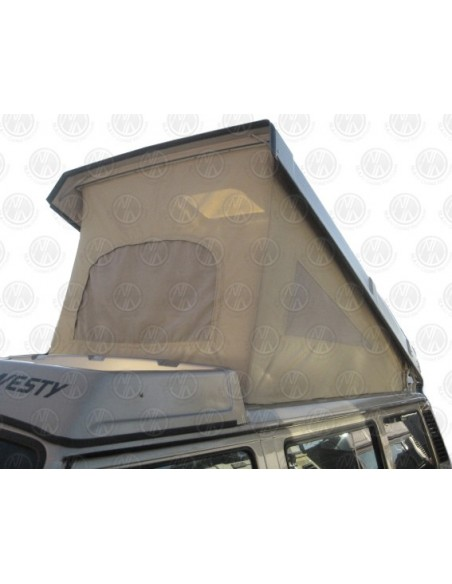 Early VW T25 Westfalia roof canvas basic tan 3 Window