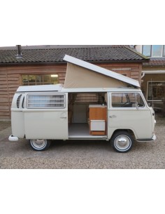 German Quality Early Bay Roof Canvas 3 Windows in Tan