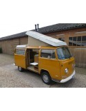 VW T2 Early Bay Roof Canvas, 1 Window in Yellow