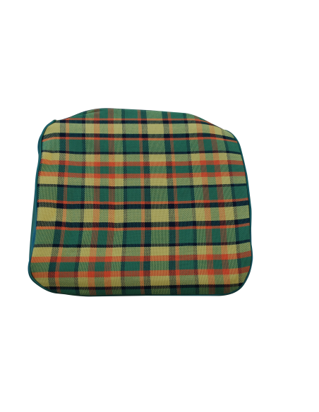Early Bay Front Seat Base Cover in Yellow Plaid