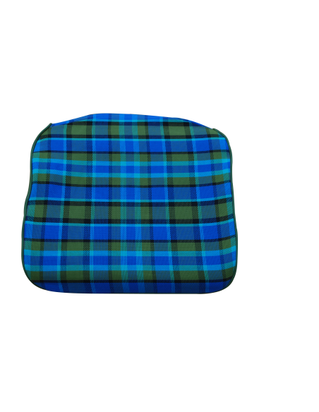 Early Bay Front Seat Base Cover in Blue Plaid