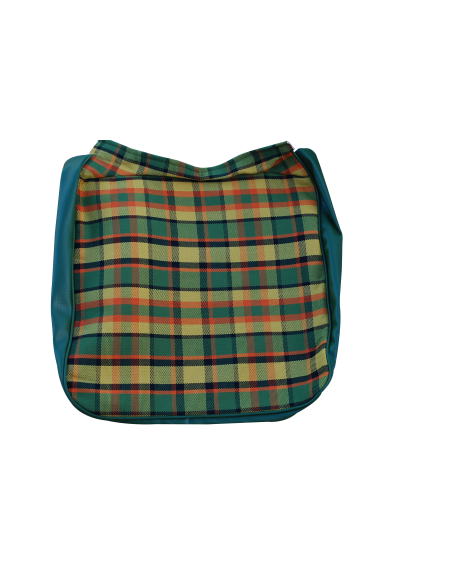 Early Bay Front Seat Full Back Cover in Yellow Plaid