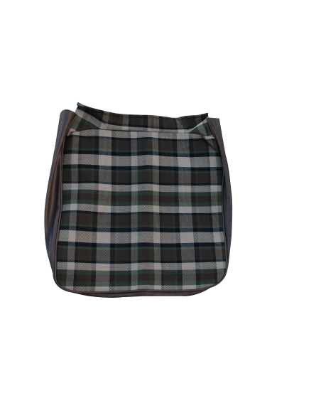 Early Bay Front Seat Full Back Cover in Beige Plaid