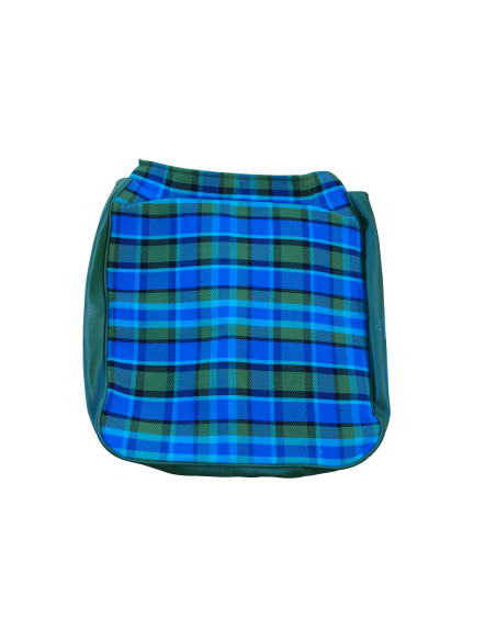 Early Bay Front Seat Full Back Cover in Blue Plaid