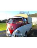 Heavy Duty waterproof cotton Canvas fits original Steel Hoops for loading bed on VW T2 Splits Single Cab 1950-1967