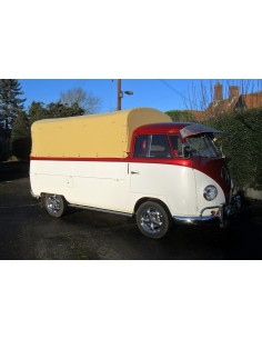 Heavy Duty waterproof cotton Canvas fits original Steel Hoops for loading bed on VW T2 Splits Single Cab 1950-1967
