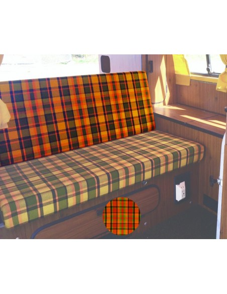 Late Bay 3/4 Rock and Roll Bed Back Cover in Orange Plaid