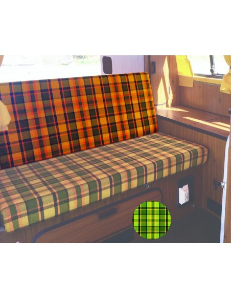 Late Bay 3/4 Rock and Roll Bed Back Cover in Green Plaid