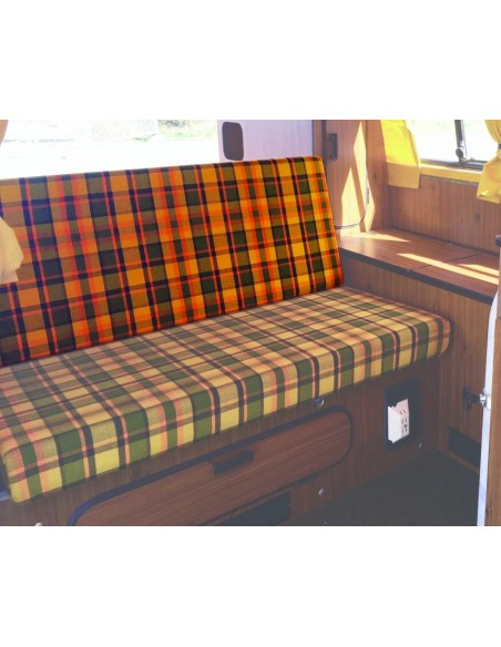 Late Bay 3/4 Rock and Roll Bed Back Cover in Yellow Plaid