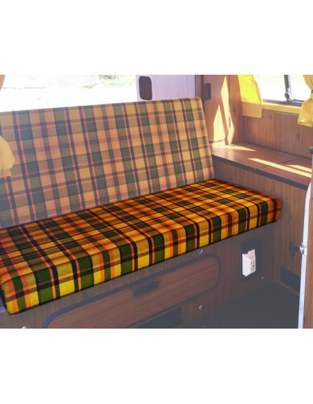 Westfalia 3/4 Rock and Roll Bed Seat Bottom Cover in Yellow Plaid