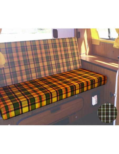 Westfalia 3/4 Rock and Roll Bed Seat bottom Cover in Beige Plaid