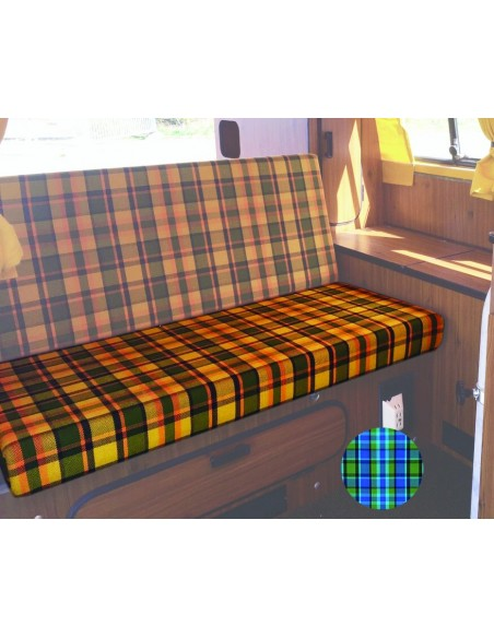 Late Bay Westfalia 3/4 Rock and Roll Bed Seat Cover in Blue Plaid