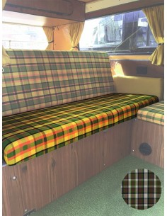 Westfalia Helsinki Full width rock and roll seat bottom cover beige plaid