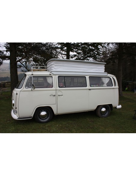 Devon Pop Top Roof Bellows white PVC with Concertina sides for VW Bay 68-75